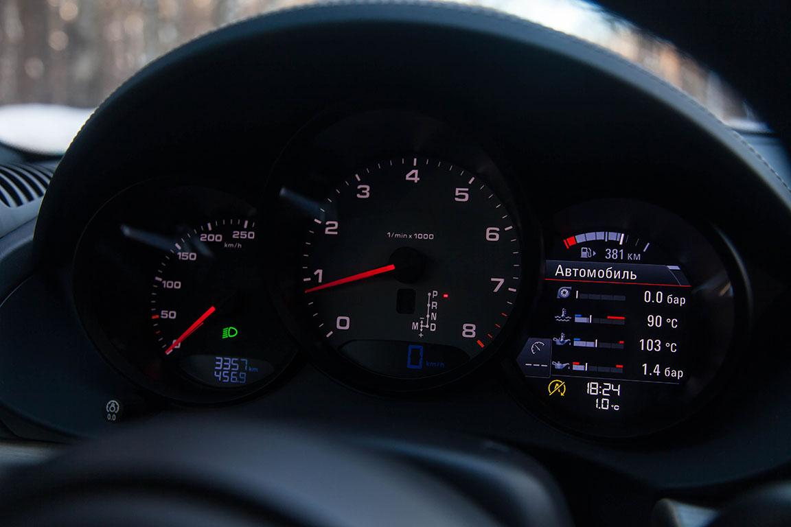 Porsche Cayman S 2017 Панель приборов