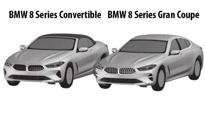 Патентные изображения BMW 8 серии кабриолет и Gran Coupe